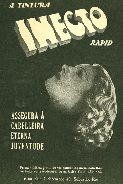 Propaganda antiga da Tintura Inecto Veiculada em 1937