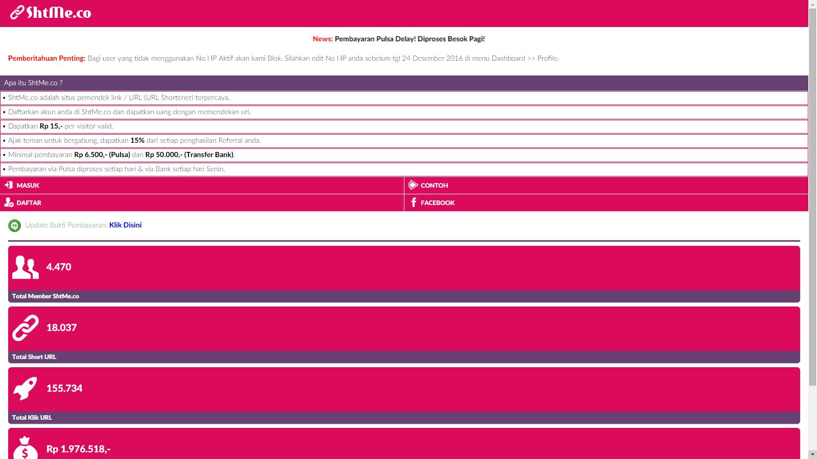 Cara daftar dan mendapatkan pulsa gratis dari situs shtme