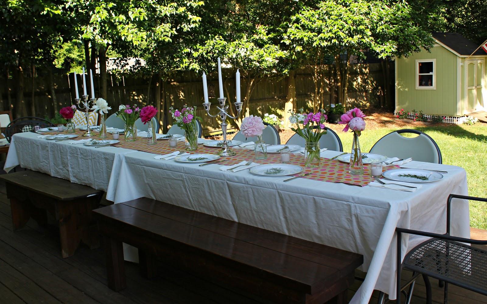 A Backyard Dinner Party Carolina Charm