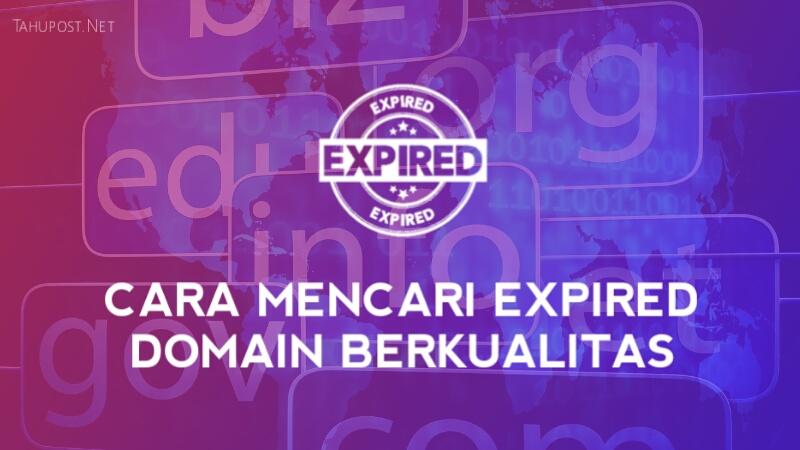Cara Mencari Expired Domain yang Bagus dan Berkualitas
