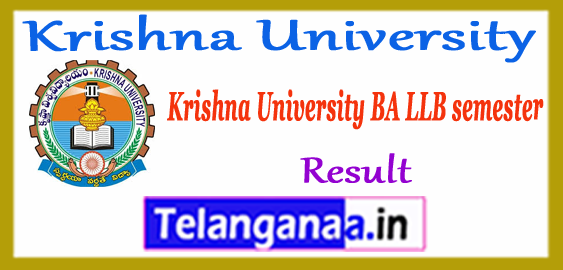Krishna University BA LLB 2nd 4th 6th 8th 10th Semester Result 2018