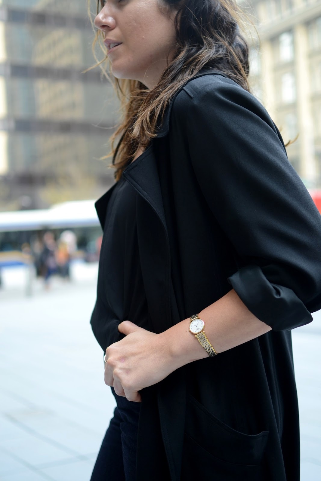 vAritzia Babaton coat Geox midi heels Gap wide leg crop vancouver fashion blogger Longines La Grande Classique watch