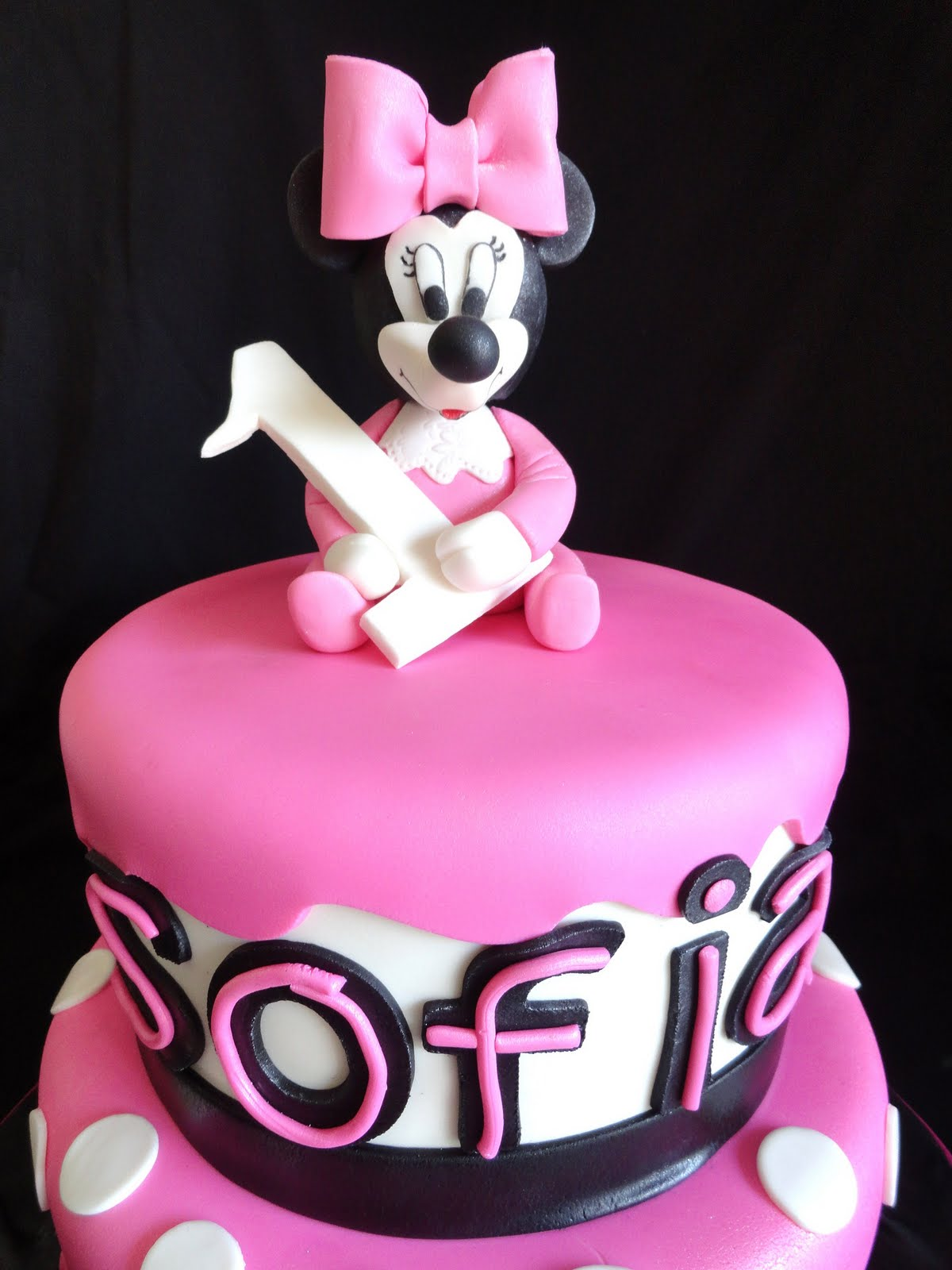 Pink Little Cake Pink Baby Minnie Mouse Cake