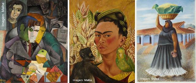 Obras de Frida Kahlo, Diego Rivera e Miguel Covarrubias no Museu de Arte Latino-Americana de Buenos Aires - Malba