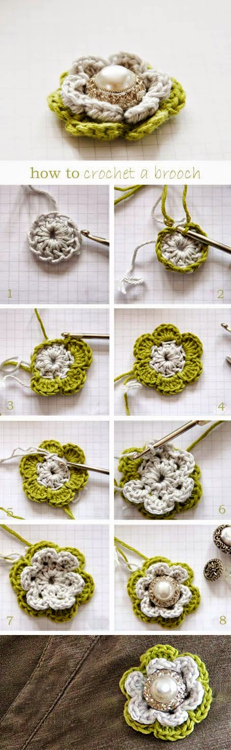 Aplique crochet paso a paso para bisuteria