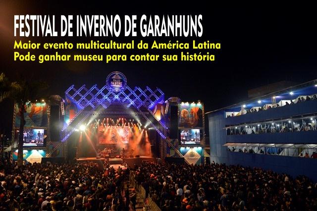 Festival de Inverno de Garanhuns poderá ganhar Museu e Centro de Produção Audiovisual