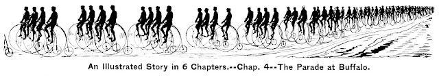 1888 parade of bicycles at Buffalo