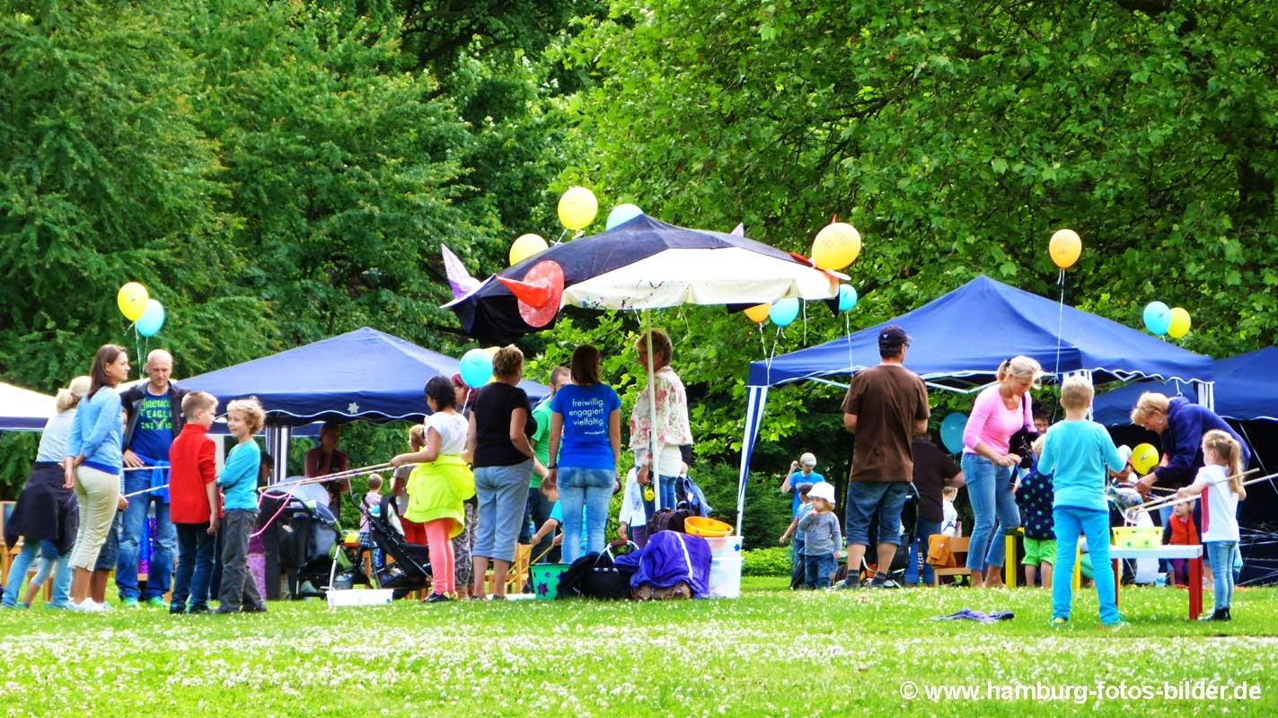 Kinderfest Hamburg Wabe Experimenta mit Luftballons in Planten un Blomen