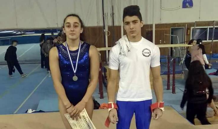 Διακρίσεις για Δημούδη και Κελεσίδη στους Πανελλήνιους Σχολικούς Αγώνες Ενόργανης Γυμναστικής