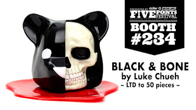 Five Points Festival Exclusive Black & Bone Dissected Bear Head Vinyl Figure by Luke Chueh x Clutter