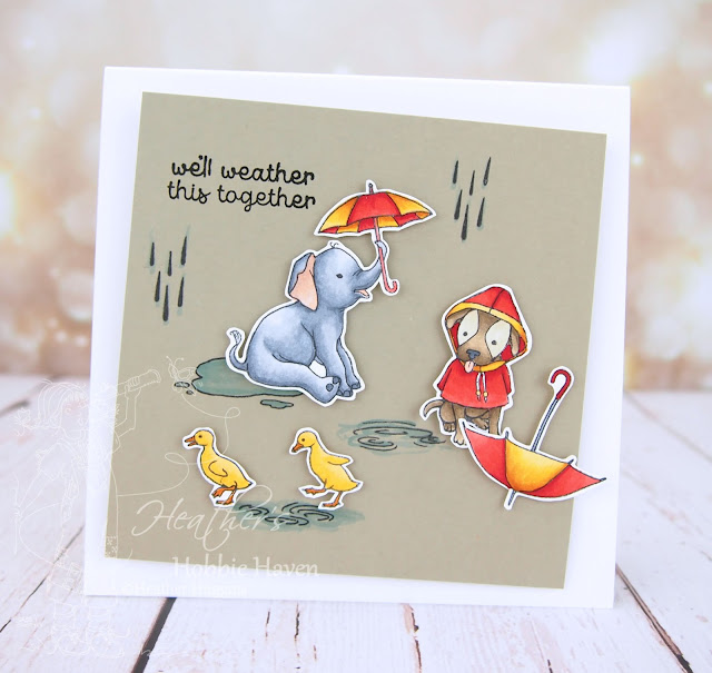 Heather's Hobbie Haven - Fun in the Rain Action Wobble Card