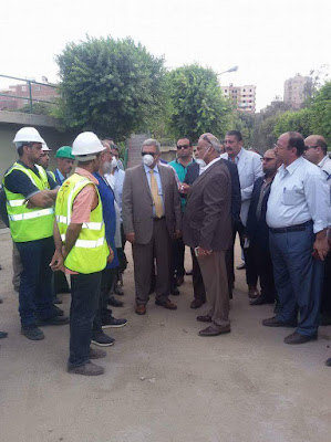 رئيس الشركة القابضة لمياه الشرب والصرف الصحي يقوم بزيارة محطة الصرف الصحى بزنين