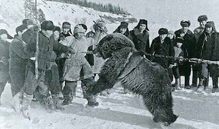 Beruang di Nivkh Bear Festival