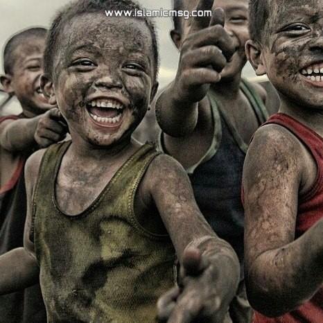 african kids smiling