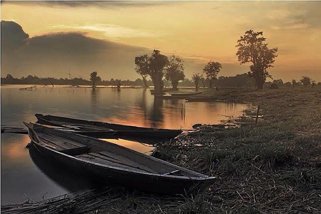 foto pemandangan danau sipin jambi