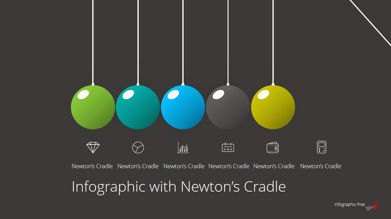 Animated Newton\'s Cradle Free PowerPoint Template