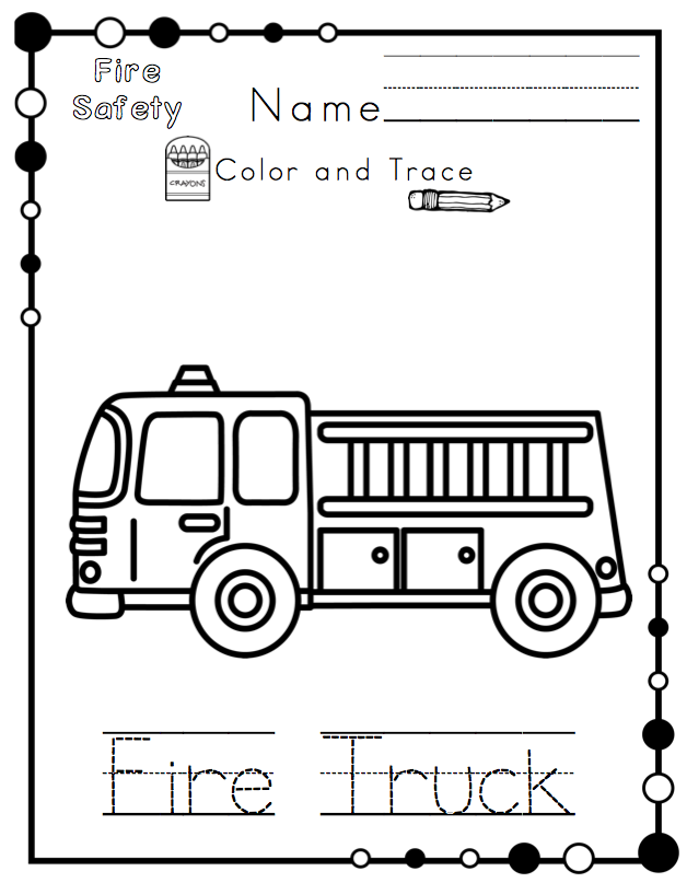 Fire Safety Printable No Prep ~ Preschool Printables