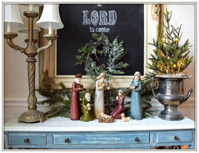 Table Top Nativity-Christmas Vignette-Christmas Decorations-From My Front Porch To Yours