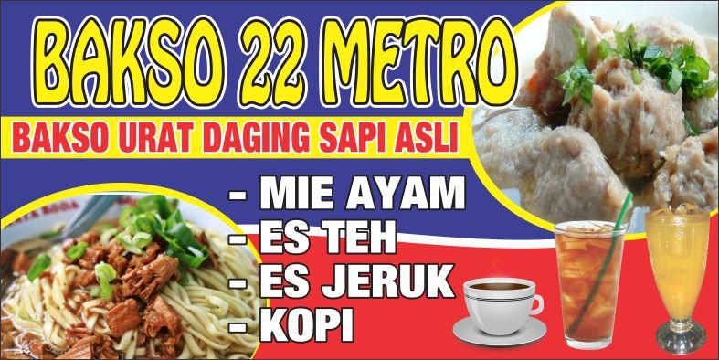 Desain Banner Mie Ayam Bakso - desain spanduk kreatif