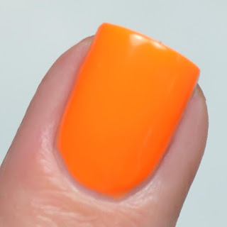 neon orange nail polish