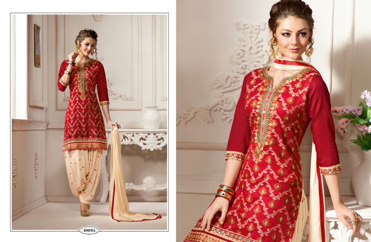 SUNHERI VOL 3-New Arrival Pure Chanderi Dress Material