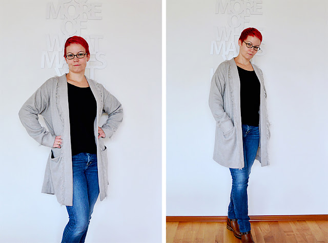 Frau Vau am MeMadeMittwoch: Esme Maxi Cardigan (Named Clothing) Nr.2