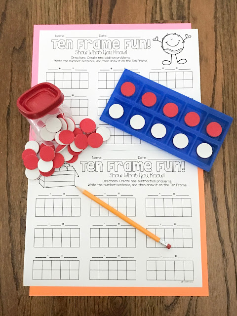 Fun and easy idea for math centers in Kindergarten, 1st grade, 2nd grade
