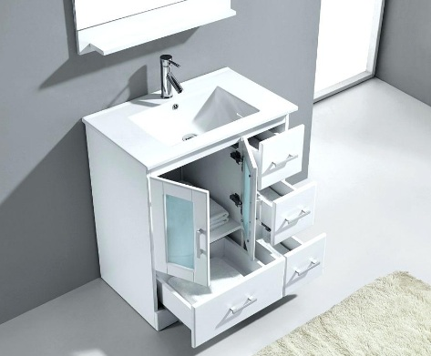 Dream Home Ideas: 30 Inch White Bathroom Vanity With Drawers