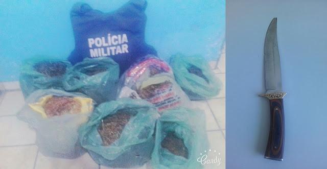 Em Paulino Neves, Polícia Militar apreende grande quantidade de drogas.