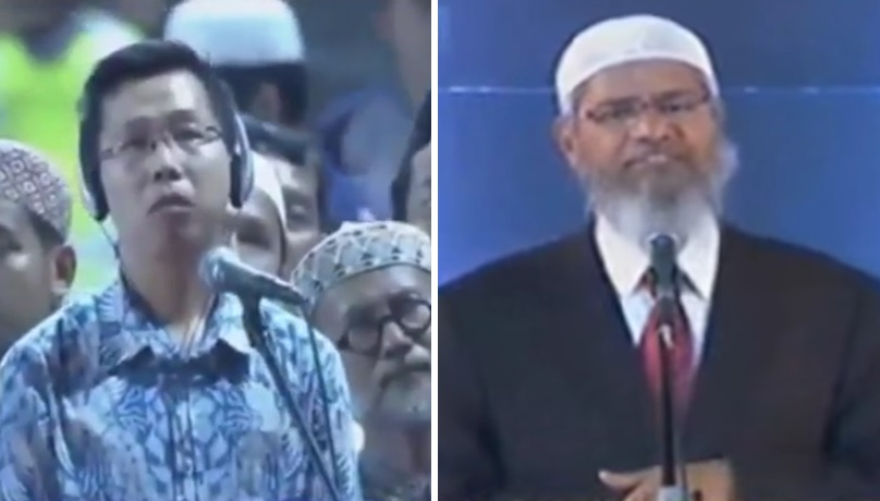 Dr Adi masuk Islam di depan Dr Zakir Naik