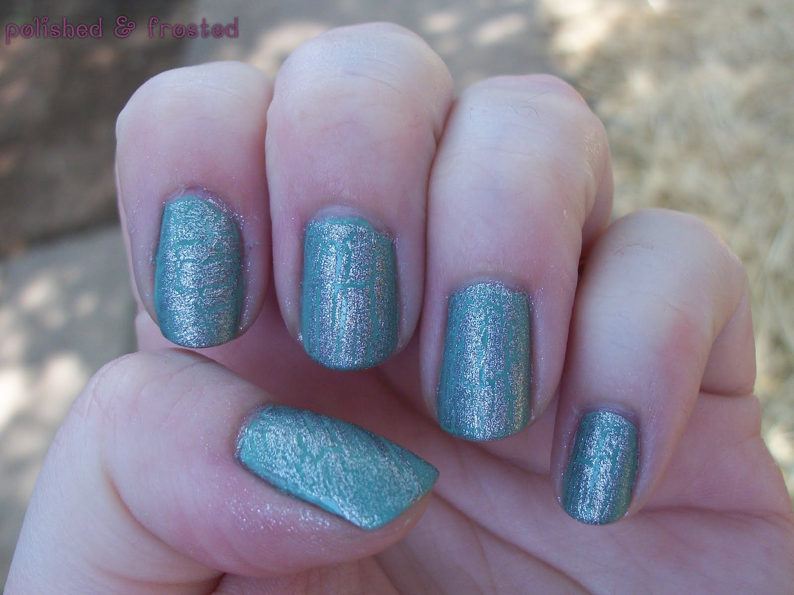 polished & frosted: OPI Silver Shatter