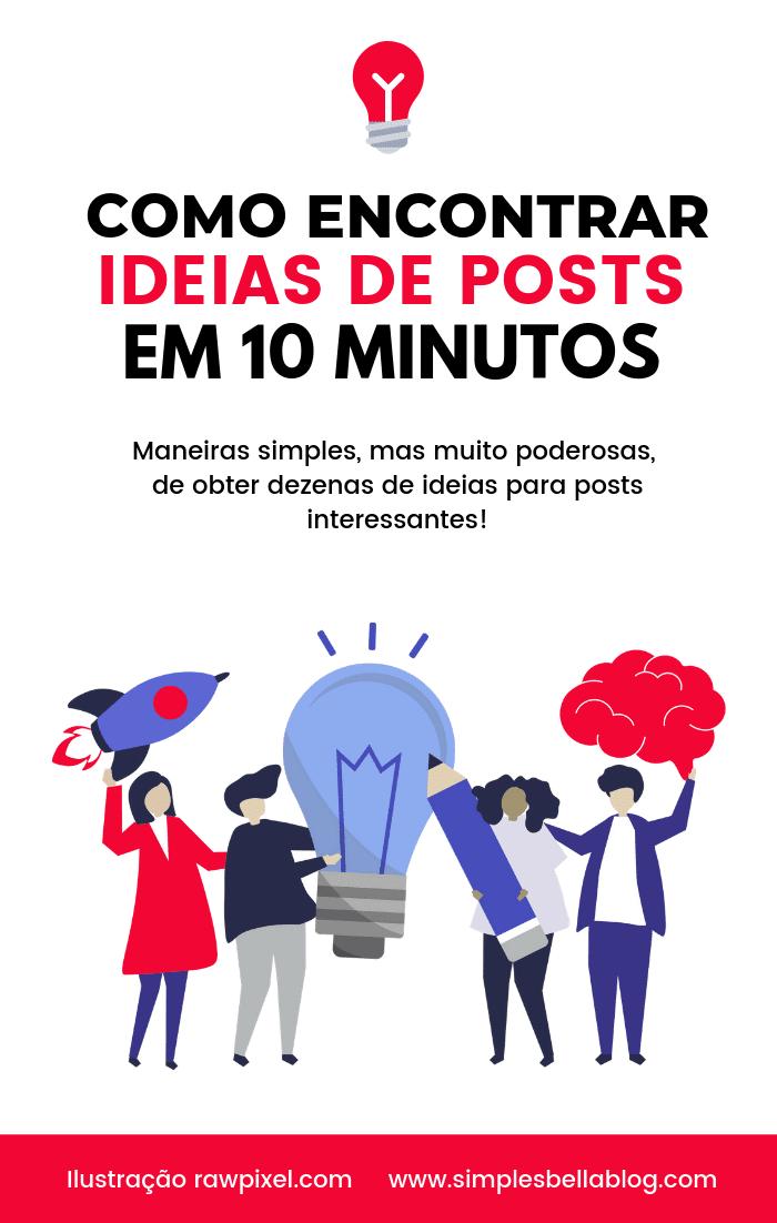 Como encontrar ideias de posts para seu blog em 10 minutos