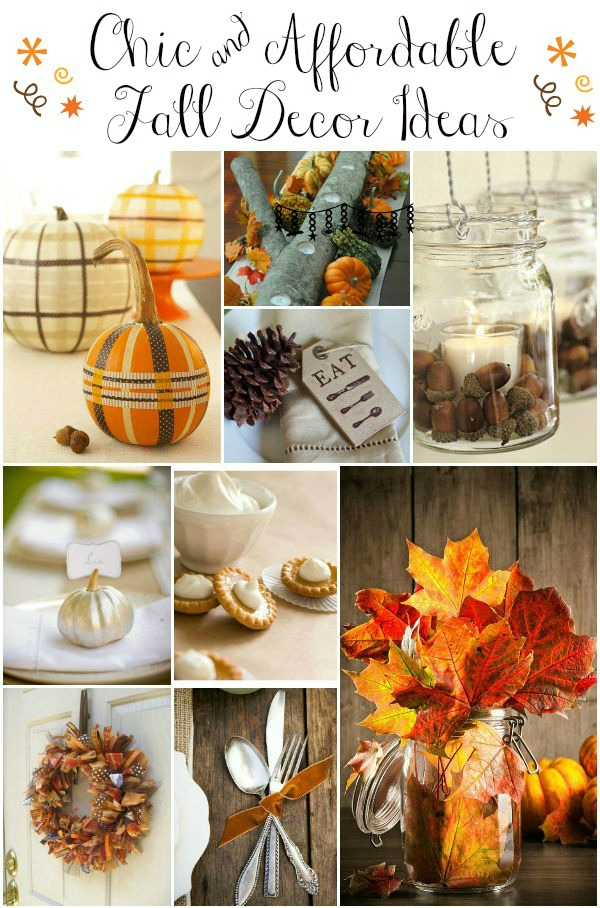 La Petite Fashionista Affordable  Chic Fall Decorating Ideas