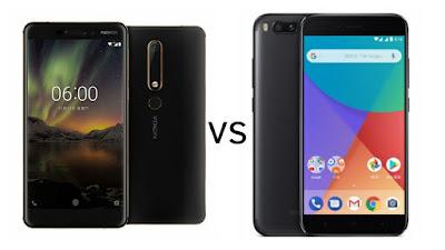 Nokia 6 (2018) vs vs Xiaomi Mi A1