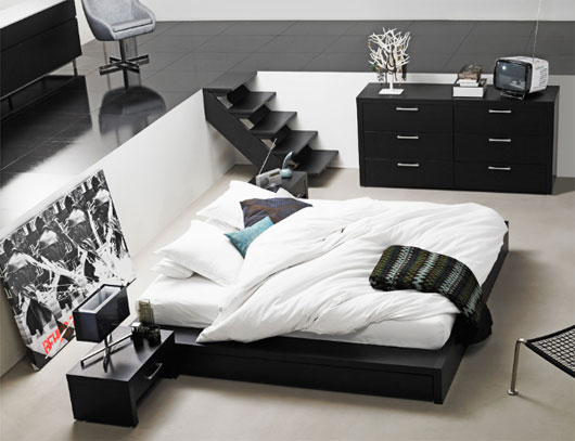Black White Bedroom Furniture: Bedroom Design Decor: Black And White Bedroom