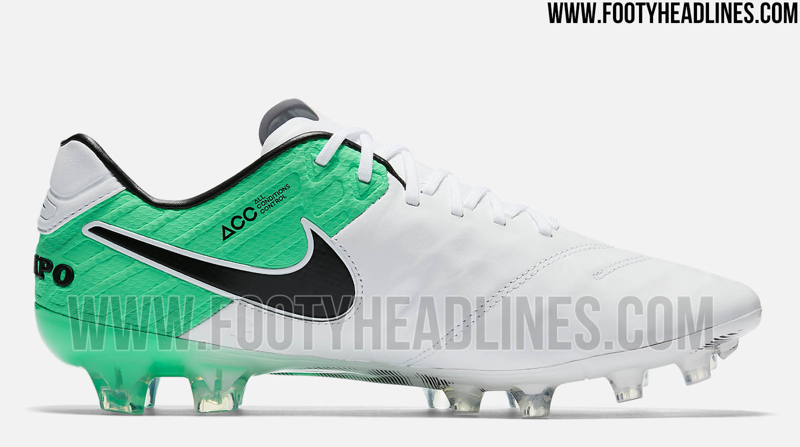 best website af8b2 87c96 nike tiempo white and green