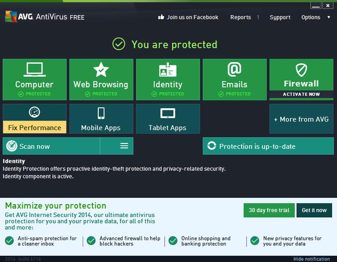 مضاد الفيروسات وأمن الإنترنت, Antivirus Free , تلقائيا , حماية الحواسيب . اخر اصدار , 2017 , تحميل برنامج + 2018 AVG Antivirus Free ,