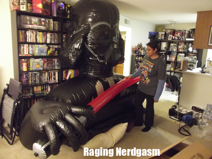 Living With A Toy Collector Giant Vader In Our Living Room