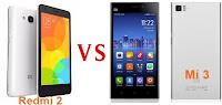 Kali ini trendxiaomi menyajikan perbandingan antar hape Xiaomi sendiri Hape Xiaomi Redmi 2 VS Xiaomi Mi 3