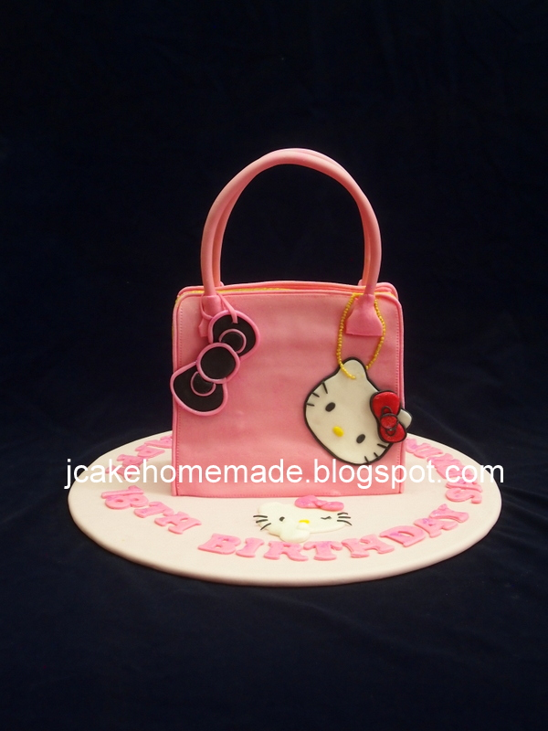 Hello Kitty Handbag Cake