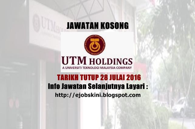 Jawatan Kosong UTM Holdings Sdn Bhd
