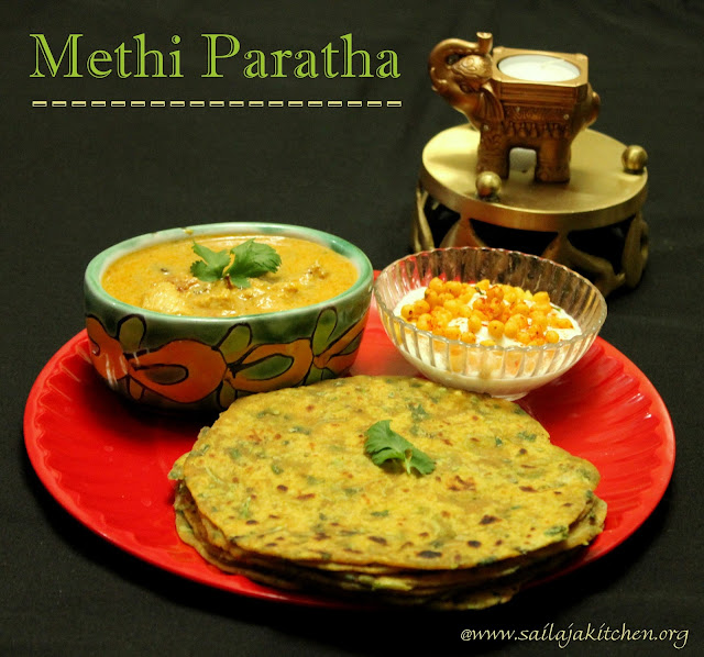 images of Methi Paratha Recipe/ Methi Roti Recipe / Methi Ka Paratha Recipe / Fenugreek Paratha