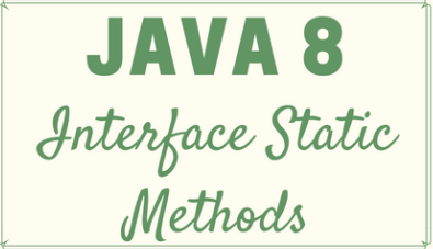 Static methods inside interface - Way To Easy Learn