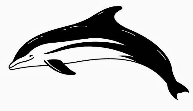 Dolphin tattoo stencil 8