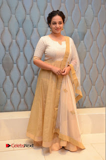 Actress Nithya Menen Pictures at 100 Days of Love Pre Release Press Meet  0226.JPG