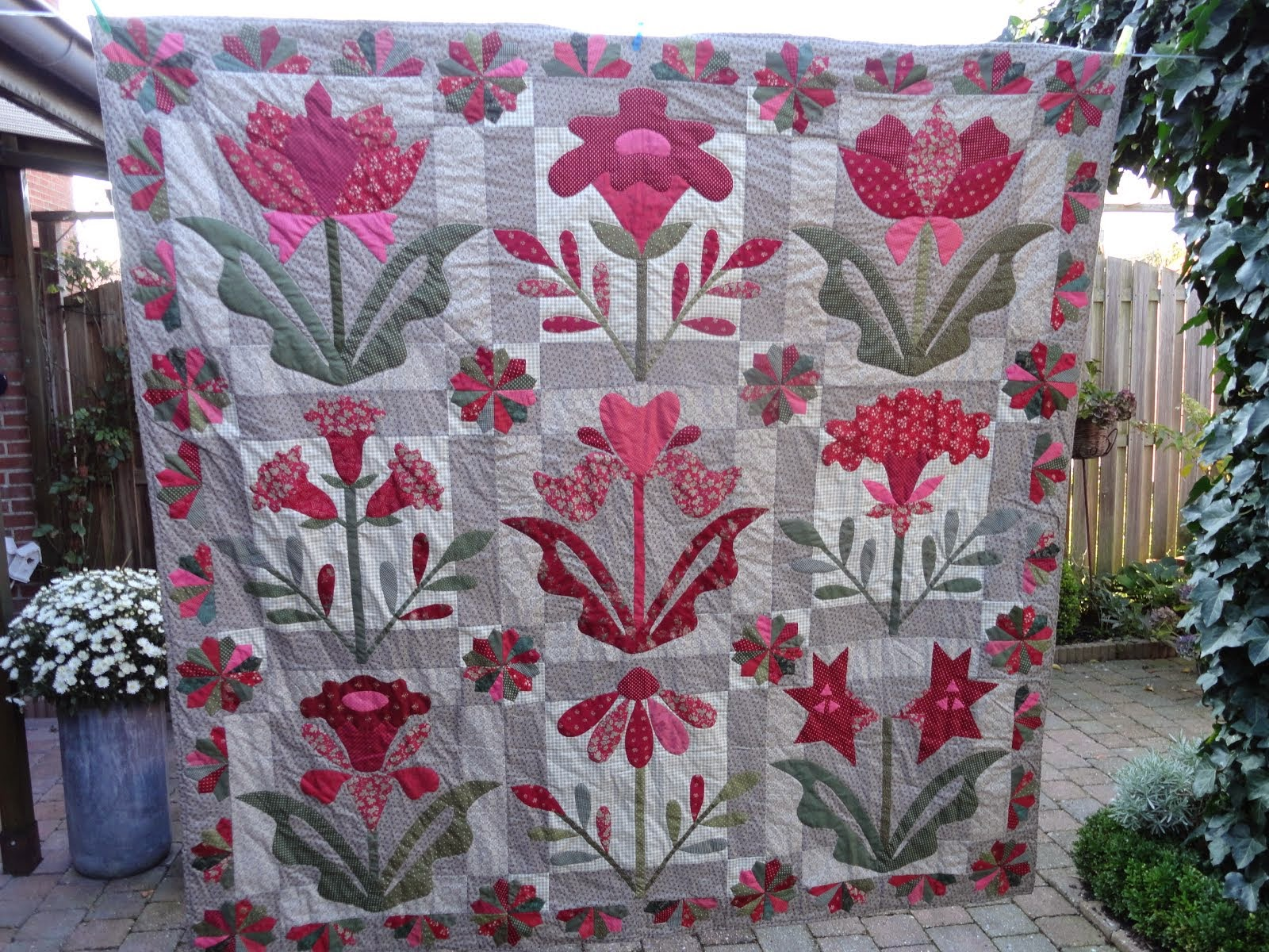 Evening bloom quilt