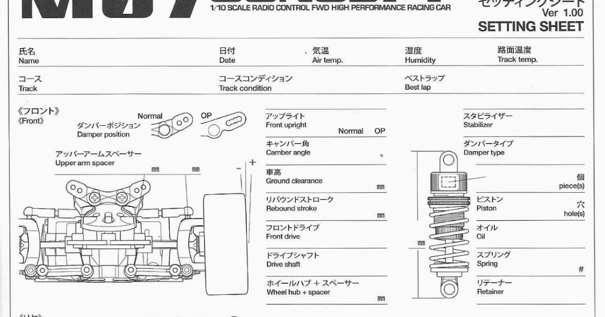 Images of Simple Race Car Set Up Sheet - #rock-cafe