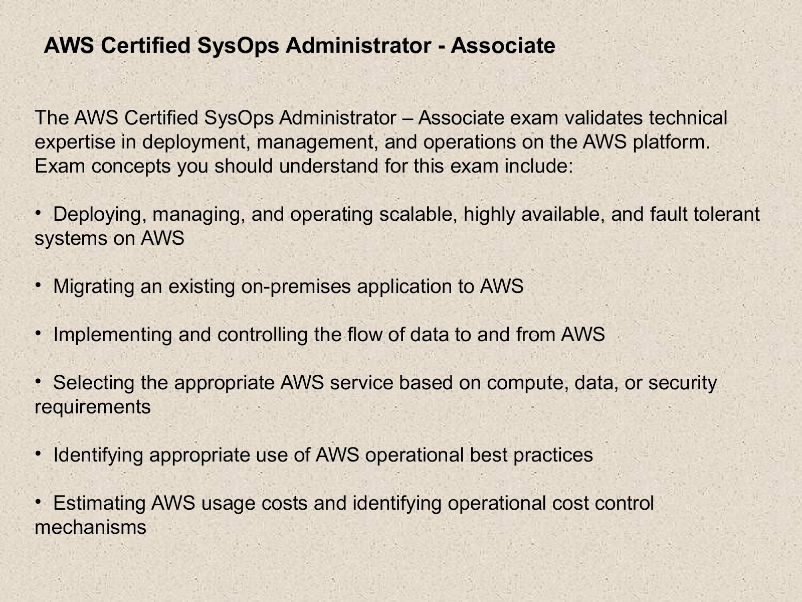 Amazon Aws Sysops Exam Dumps Question Aws Certified Sysops