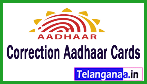 Correction Aadhar Cards Online | Update E-Aadhar Card Online