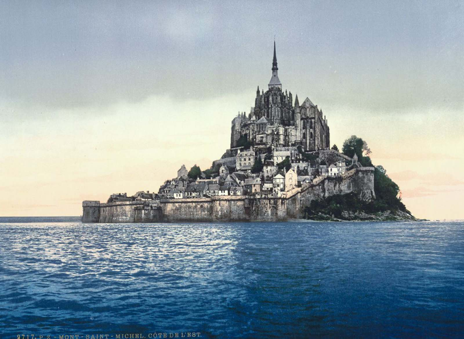 East coast at high tide, Mont St. Michel.